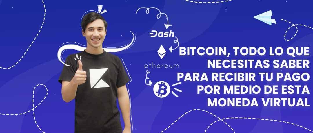 Cómo recibir tu pago con Bitcoin, la moneda virtual